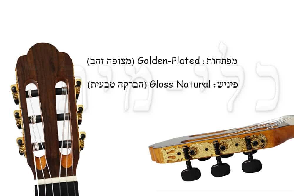 גיטרה קלאסית מוגברת - Rozanez - מפתחות כיוון
