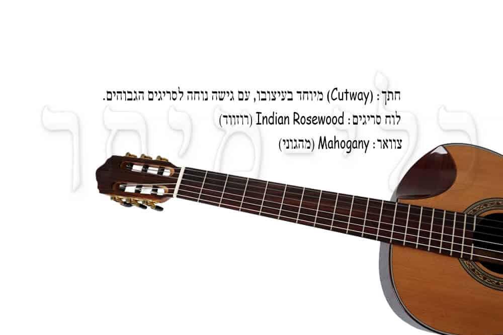 גיטרה קלאסית מוגברת Rozanez ELPE02-AC -Cut-Way