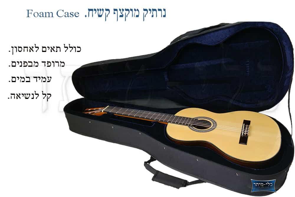 נרתיק קשיח לגיטרה - תאים לאחסון