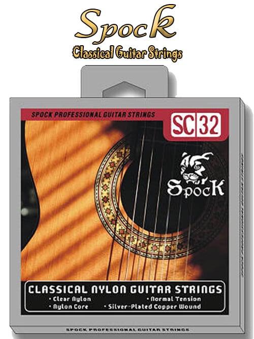 מיתרים לגיטרה קלאסית Spock SC-32