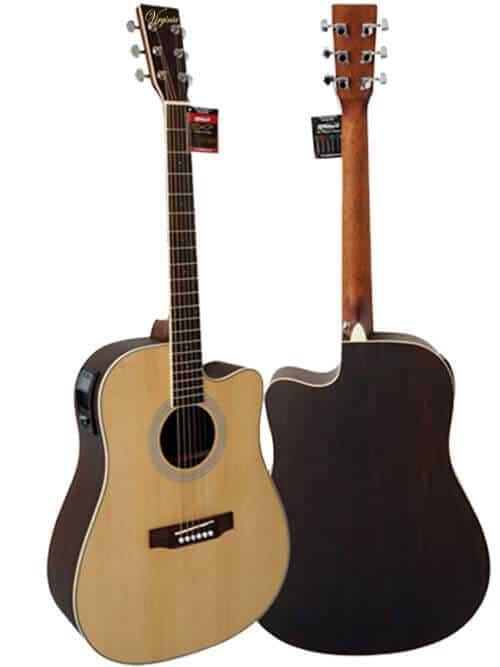 גיטרה אקוסטית מוגברת – Virginia ELM02-AC
