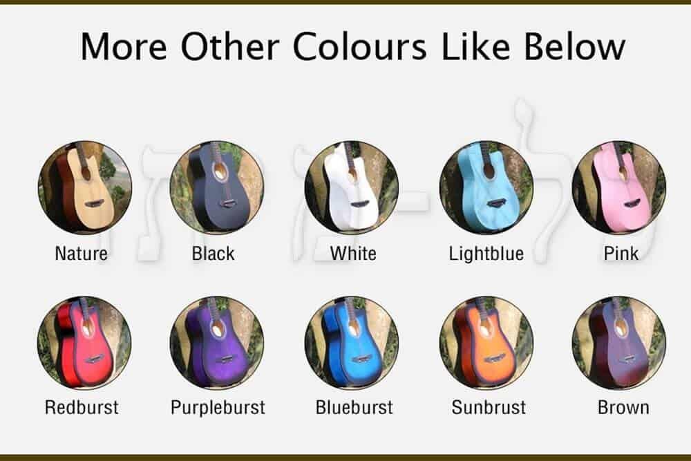 גיטרה קלאסית 3/4 - צבעים של הדגמים
