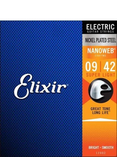 סט מיתרים לחשמלית ELIXIR NANOWEB 0.09