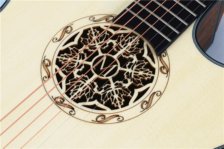 גיטרה אקוסטית מוגברת - Smiger LG-07- פי התהודה