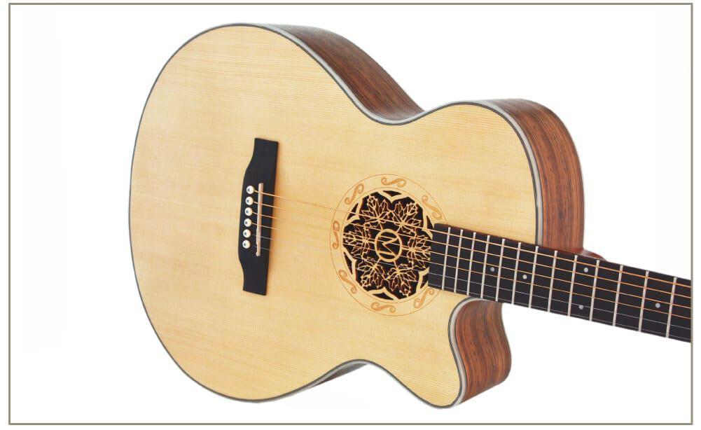 גיטרה אקוסטית מוגברת - Smiger LG-07- צד