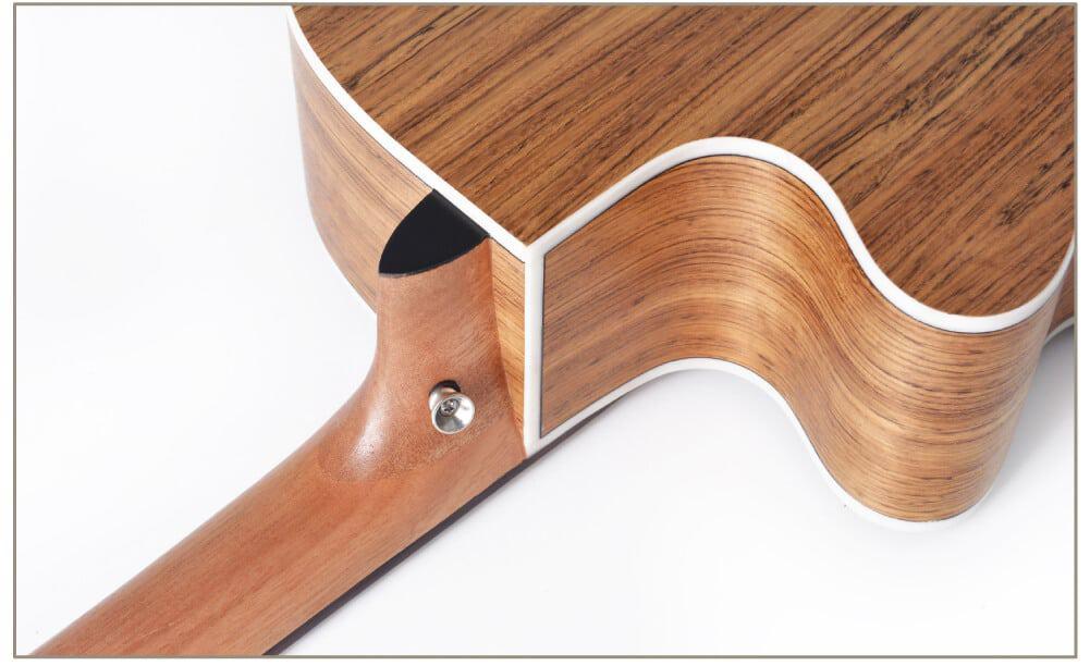 גיטרה אקוסטית מוגברת - Smiger LG-09 - צדדים וגב