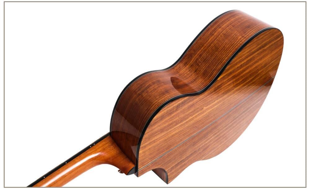 גיטרה אקוסטית מוגברת - smiger FN-30 - גב צדדים וצוואר