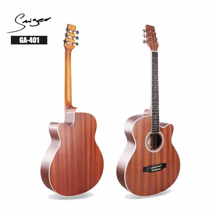 גיטרה אקוסטית - Smiger GA-401- גב וטופ
