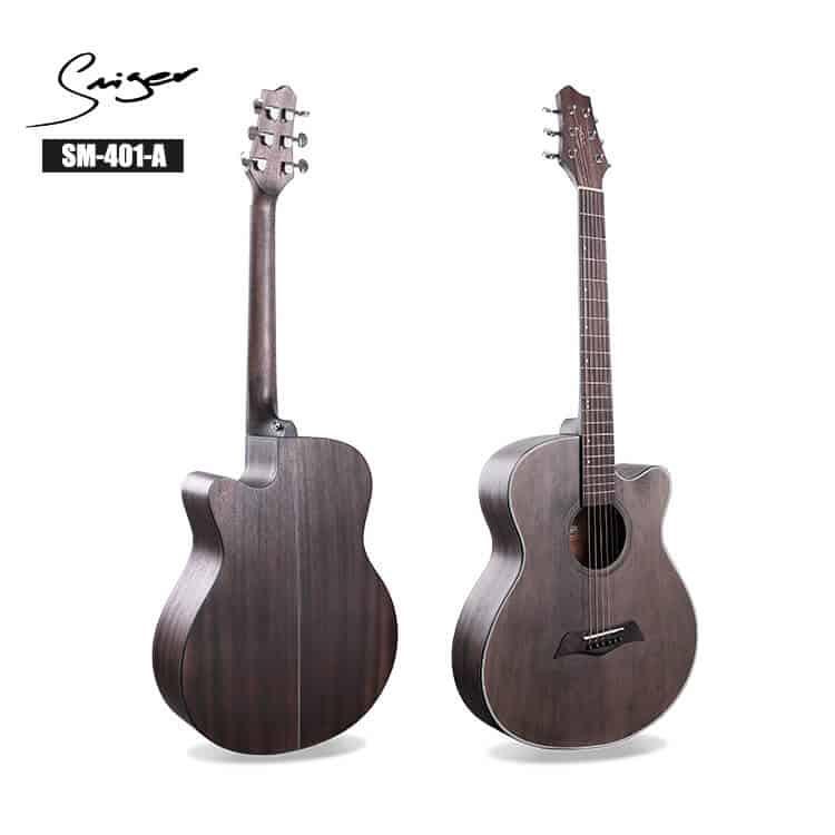גיטרה אקוסטית - smiger - מקדימה ואחורה SM-401-A