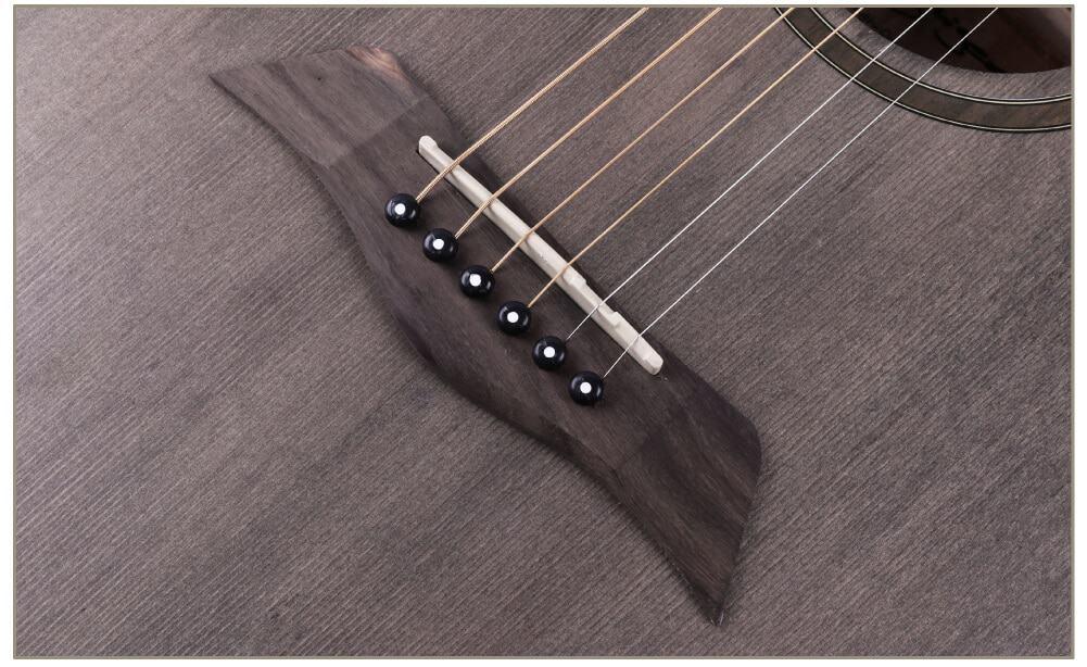 גיטרה אקוסטית - smiger SM-401-A - גשר של הגיטרה