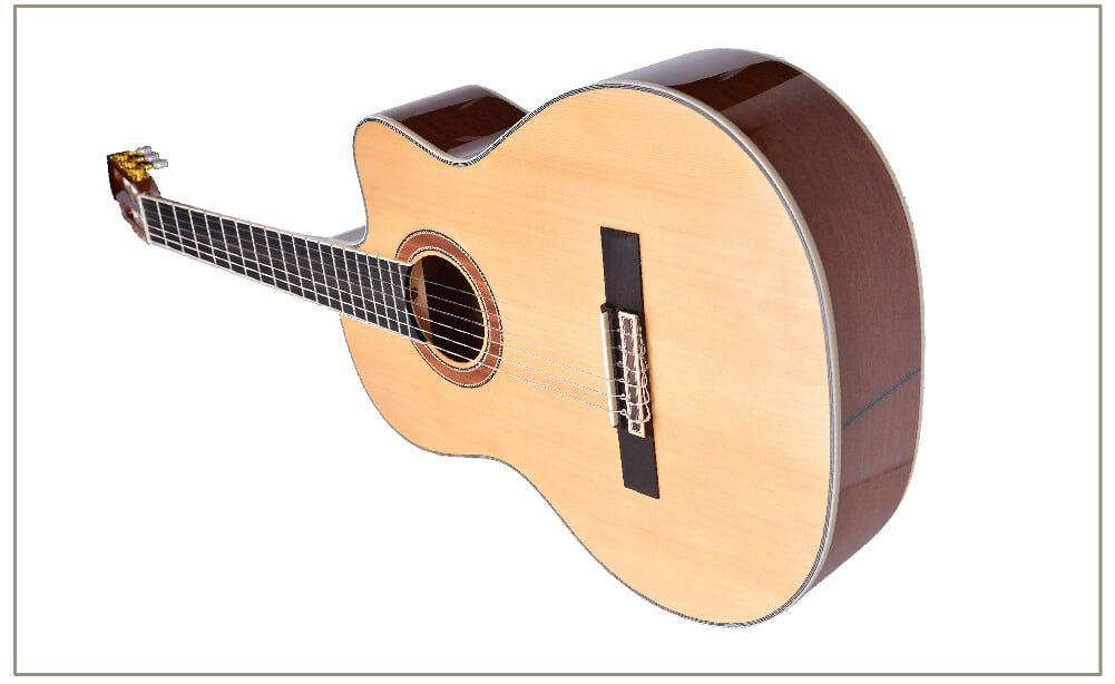 טופ וצדדים של הגיטרה
