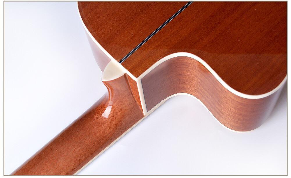 גיטרה קלאסית מוגברת - granadinas - YC -101 צוואר וגב