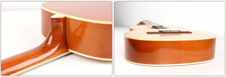 גיטרה קלאסית -EC-18-NY malaguena - צדדים של הגיטרה