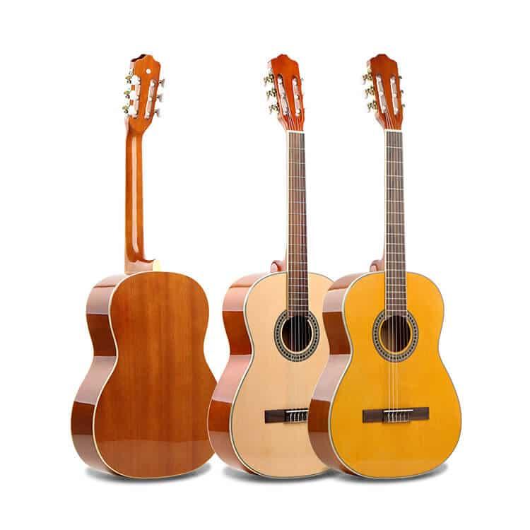 גיטרה קלאסית -EC-18-NY malaguena - קדימה ואחורה של הגיטרה