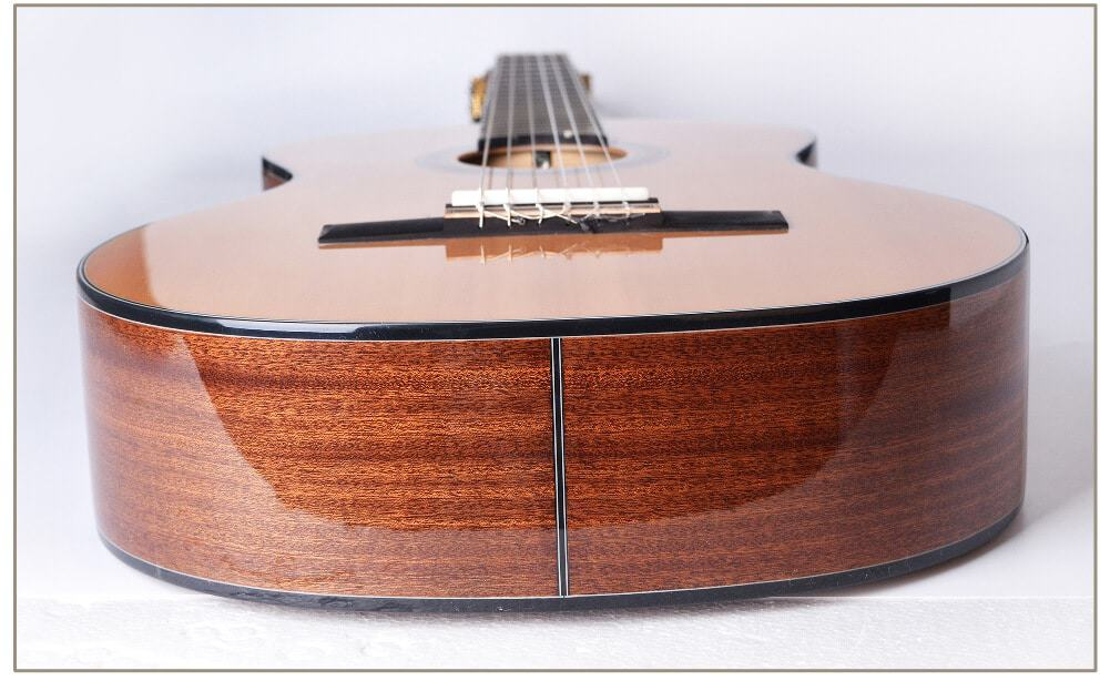 דופן אחורי של תחתית הגיטרה