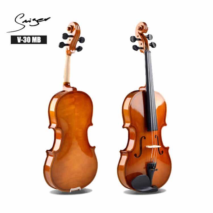 צוואר ולוח אצבעות של הכינור עשויים מ Maple