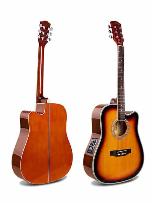 גיטרה אקוסטית מוגברת למתחילים Smiger-GA-H61-BL