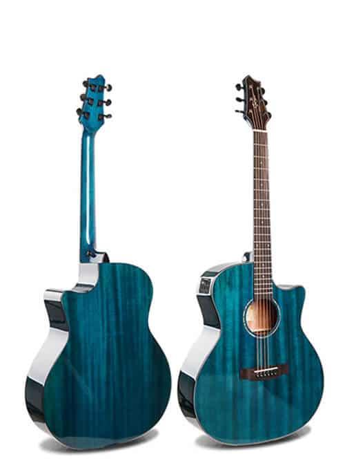 גיטרה אקוסטית סוליד טופ מוגברת Smiger- M-D10S-BL