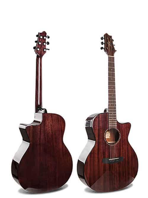 גיטרה אקוסטית סוליד טופ מוגברת Smiger- M-D10S-VK