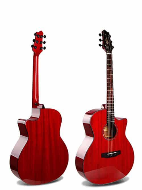 גיטרה אקוסטית סוליד טופ Smiger- M-D10S-RD