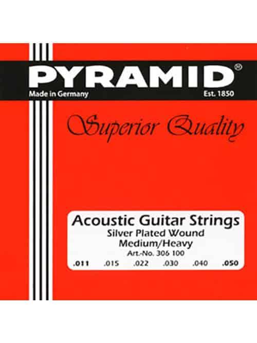 מיתרים לגיטרה 02 אקוסטית - PYRAMID 0.11
