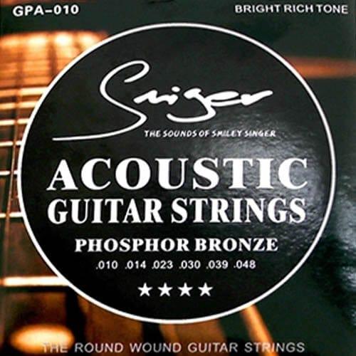 מיתרים לגיטרה אקוסטית -Smiger - GPA-0.10