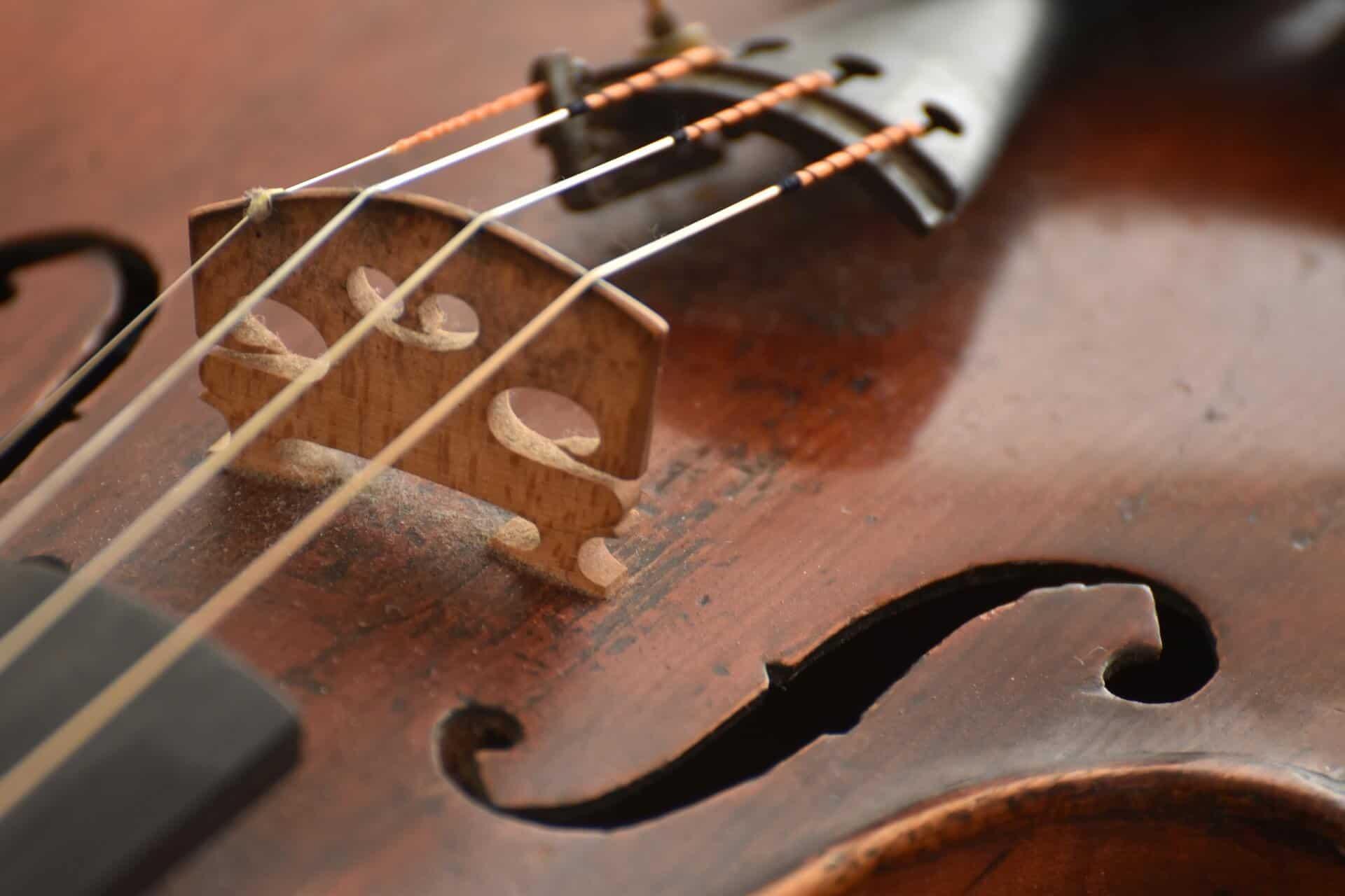 כינור מעץ אשוח ישן